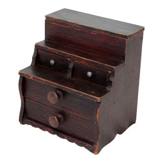 Antique Doll Size Chest of Drawers For Sale