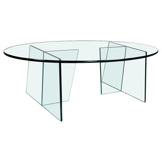 Modern Glass Coffee Table For Sale