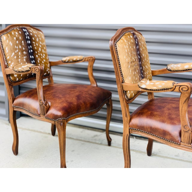 Modern Axis Deer Arm Chairs- a Pair For Sale In Dallas - Image 6 of 13