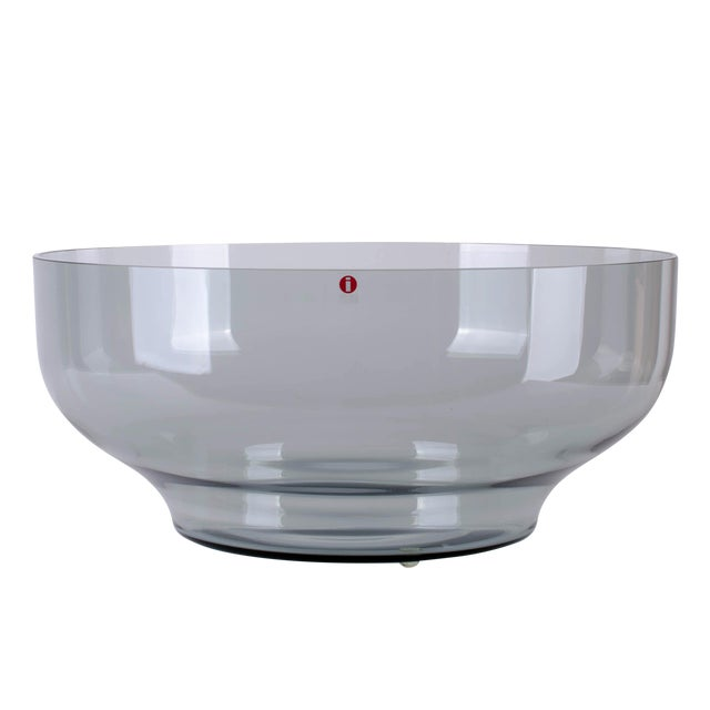 Carina Seth-Andersson for Iittala 'Relations' Smoke Glass Bowl For Sale