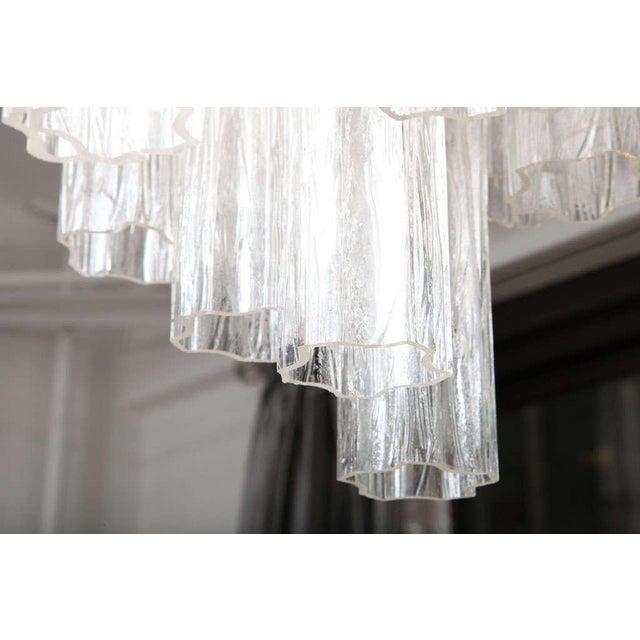 Glass Venini Tube Chandelier For Sale - Image 7 of 8