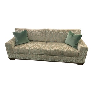 21st Century Green Transitional Sofa For Sale
