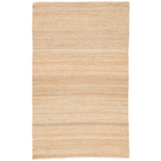 Jaipur Living Hutton Natural Solid Beige Area Rug - 5' X 8' For Sale