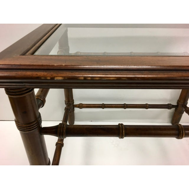 Mahogany & Glass Top End Tables - A Pair For Sale In Charleston - Image 6 of 10