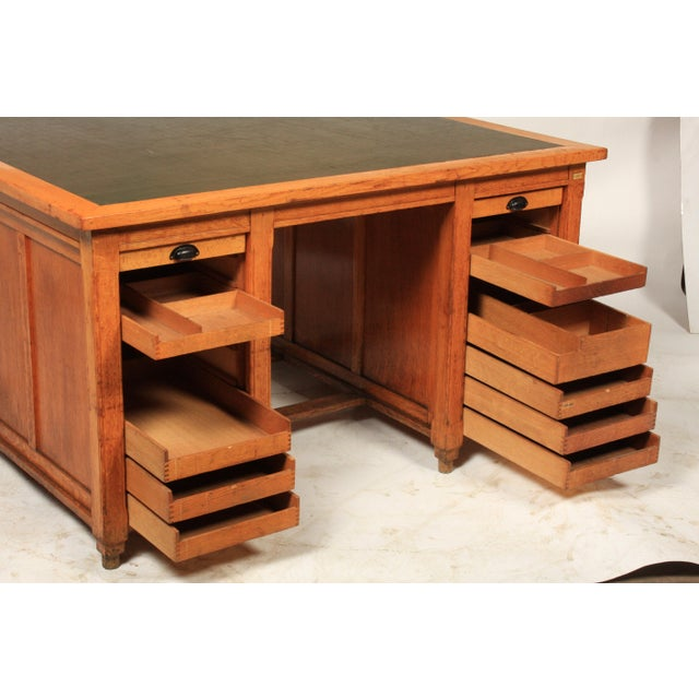 1930s 1930s Newspaper Office Partners Desk For Sale - Image 5 of 13