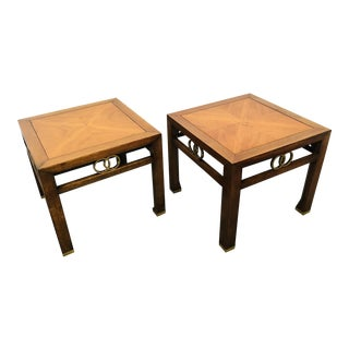 1950s Mid-Century Modern Michael Taylor for Baker Far East Accent Tables - a Pair For Sale