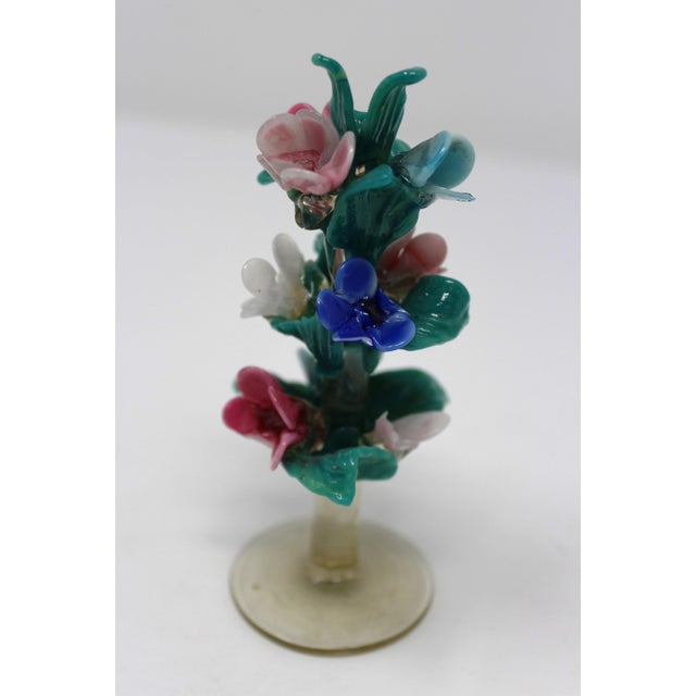 Murano Vintage Antique Miniature Murano Flowers For Sale - Image 4 of 6