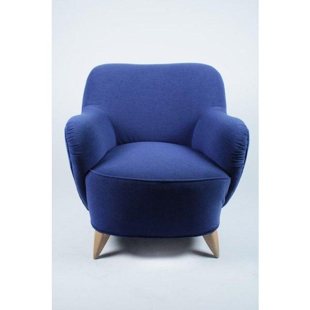 Vladimir Kagan Vladimir Kagan Barrel Lounge Chairs - a Pair For Sale - Image 4 of 7