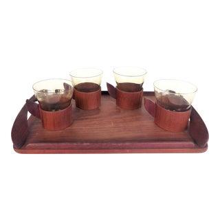 Mid-Century Danish Modern Teak Tea Set & Tray- Set of 5 For Sale