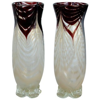 Murano Blown Glass Bud Vases For Sale