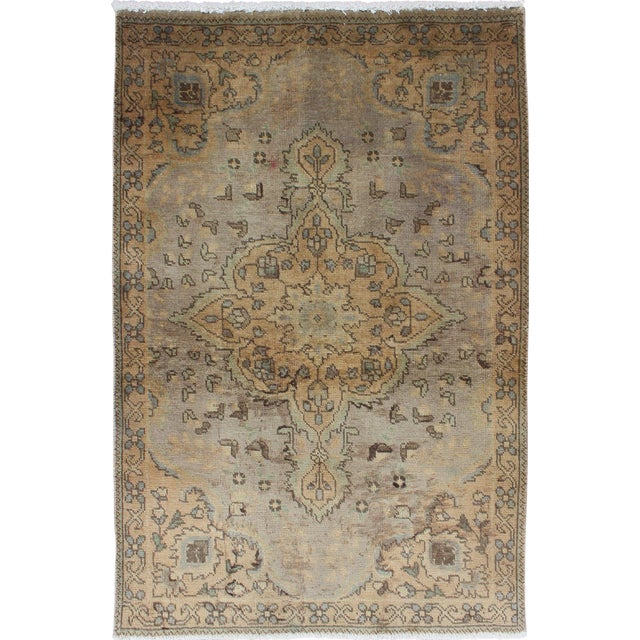 Semi Antique Tabriz Rug - 3′ × 4′9″ For Sale
