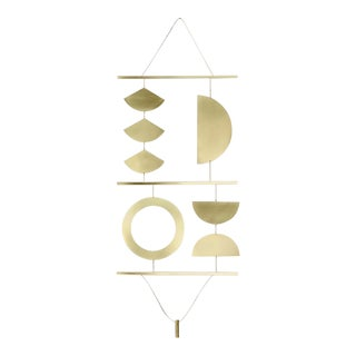 Geometric Brass Wall Hanging For Sale