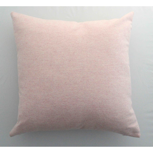 FirmaMenta Italian Virgin Wool Pink Pillow For Sale - Image 4 of 4