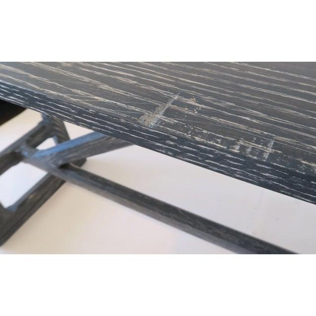 Martin & Brockett Long Gray Trestle Console - Image 5 of 9