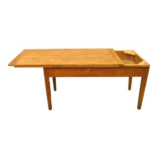 Special Midwest Delivery Antique French Bakery / Harvest Table For Sale