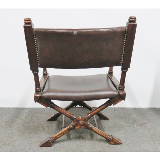 Mid 20th Century Mid Century Regency Directors Style Chairs- a Pair For Sale - Image 5 of 6