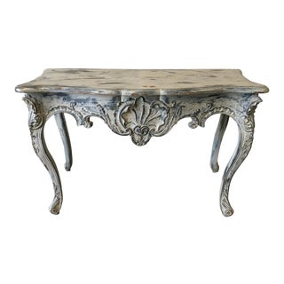 French Louis XV Rococo Style Entry Table Console