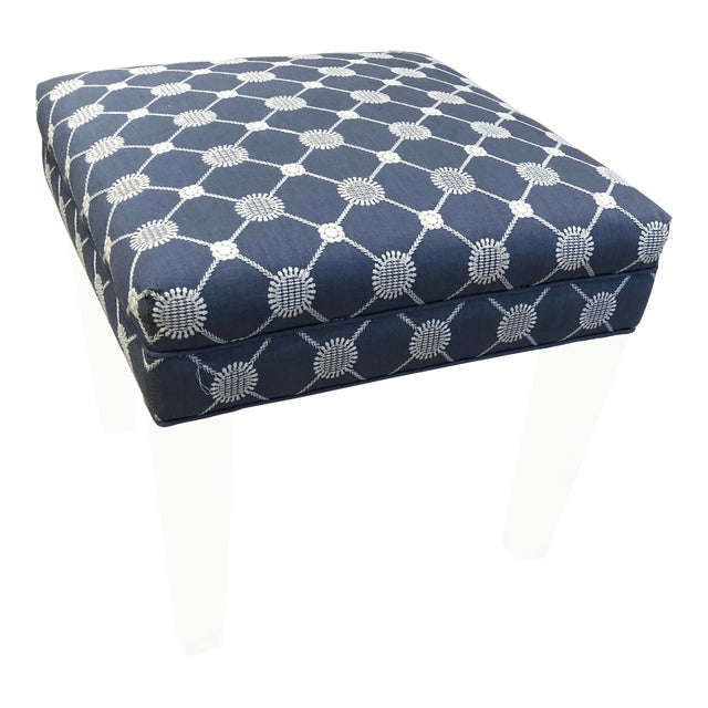 Early 21st Century Vintage Transitional Ottoman For Sale