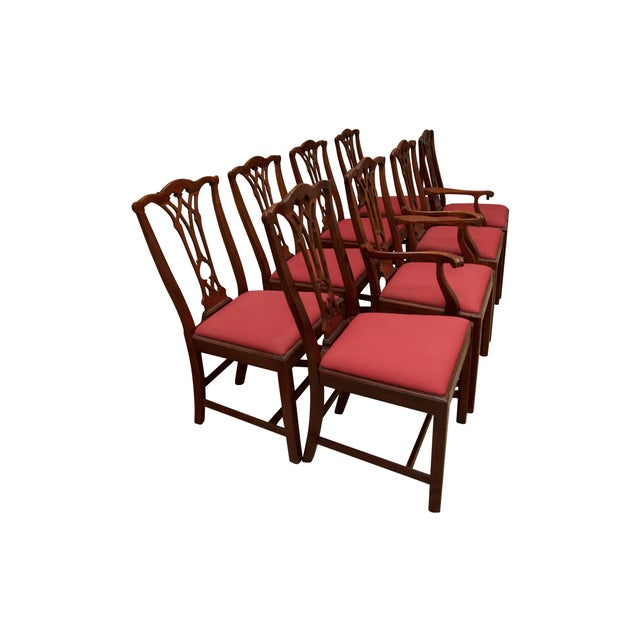Chippendale Style Mahogany Dining Chairs - S/8 - Image 10 of 10