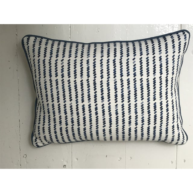 Contemporary Custom Schumacher Tic for Tac Lumbar Pillow For Sale - Image 3 of 4