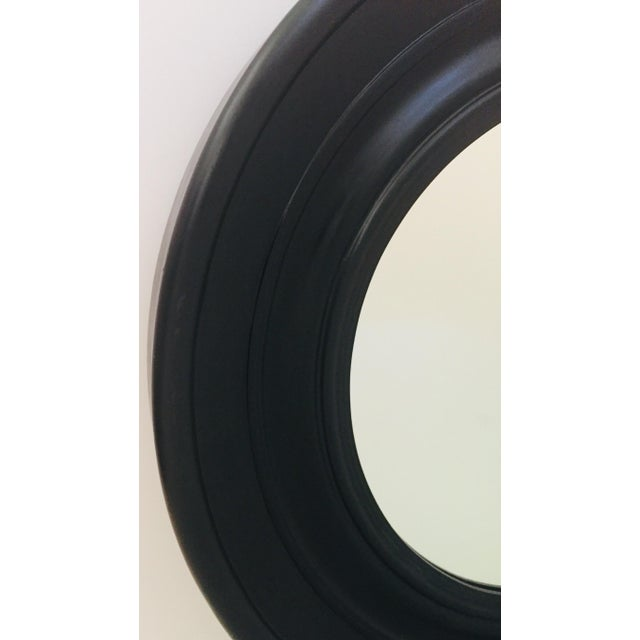 Black Large Round Black Painted Mirror For Sale - Image 8 of 11