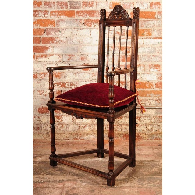19th Century Reinassance Side Chairs - A Pair - Image 5 of 11