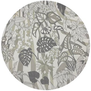 "Nicolette Mayer Sabi Jungle Neutral 16"" Round Pebble Placemats, Set of 4 For Sale"