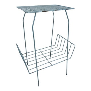 Vintage Mid Century Metal Side Table For Sale