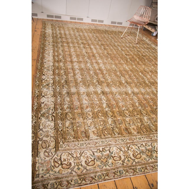 "Vintage Distressed Qom Carpet - 10'2"" x 14'5"" - Image 5 of 6"