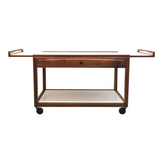 John Stuart Glenn of California White Walnut Serving Cart For Sale