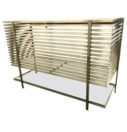 Image of Chrome Bar Carts and Dry Bars