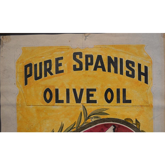 Olive Oil Label Graphic Illustration Board For Sale - Image 4 of 4