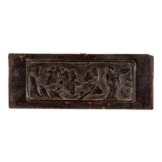 Madcap Cottage Chinoiserie Carved Peony Panel For Sale