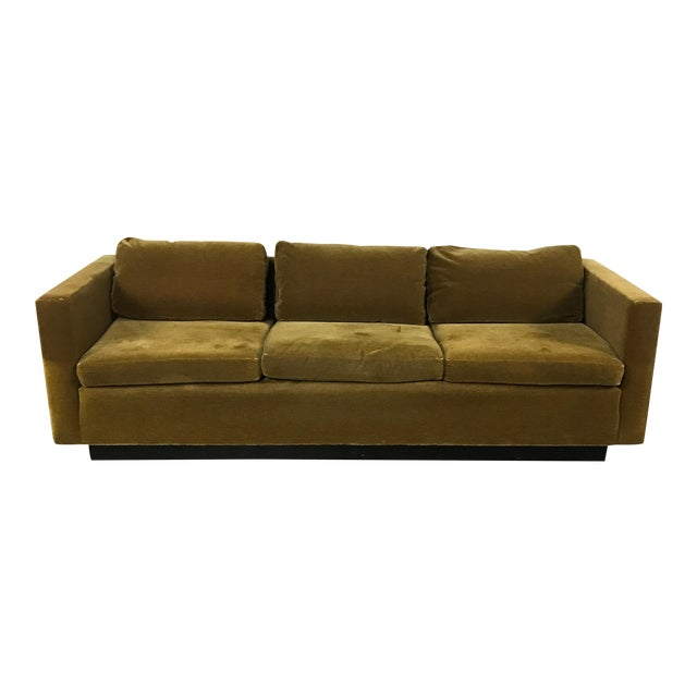 Vintage Gold Mohair Sofa - Image 1 of 11