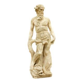 Cast Stone Statue of Neptune For Sale