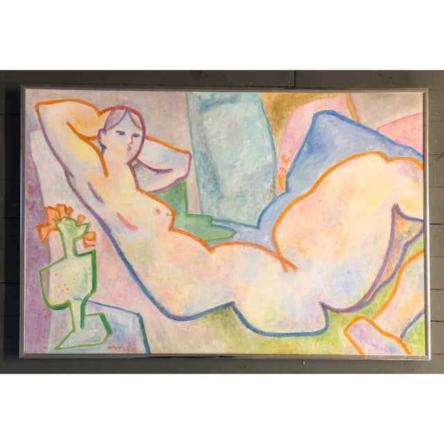 Original Vintage May Bender Female Nude Abstract Painting For Sale In Philadelphia - Image 6 of 6