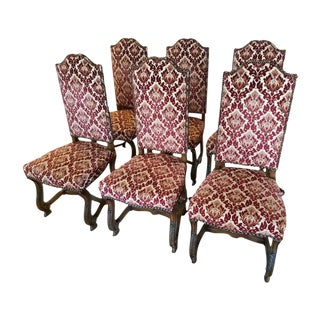 French Louis XIV Style Dining Chairs - Set of 6