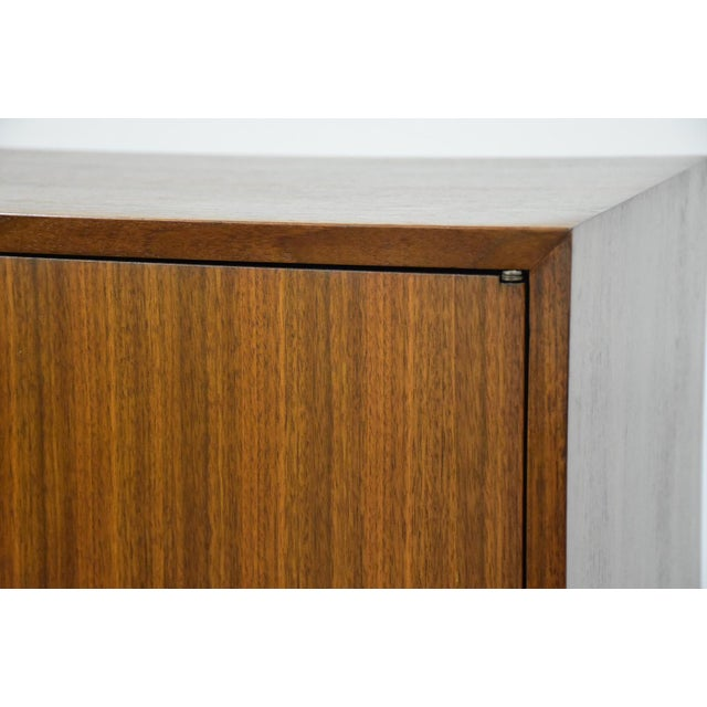 Brown 1950s George Nelson for Herman Miller Walnut Cabinet Credenza For Sale - Image 8 of 11