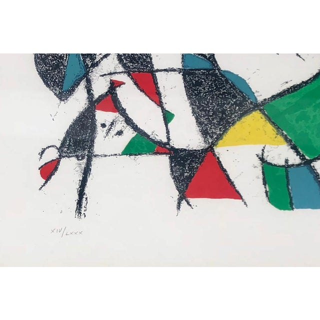Abstract Mid-Century Modern Lithograph by Joan Miro C. 1975 Lithographs II - Plate 10 For Sale - Image 3 of 5