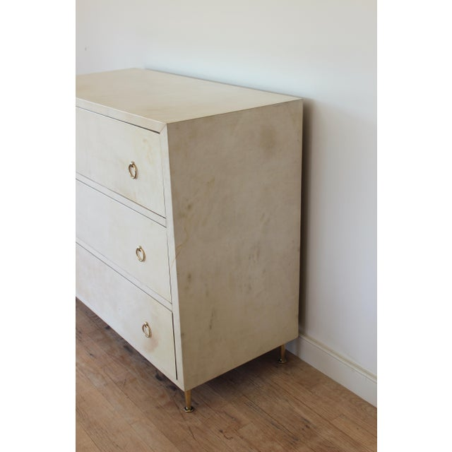 Mid 20th Century 20th Century Modern Parchment Dresser For Sale - Image 5 of 11