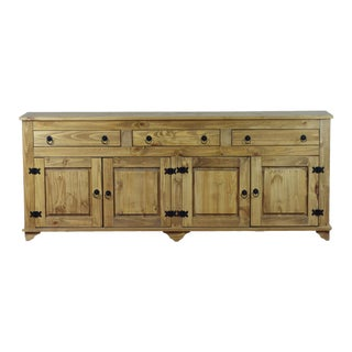 Lisa 4 Door Buffet Cabinet in Honey