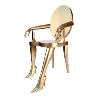 Modern Gold Titi Club Chair For Sale