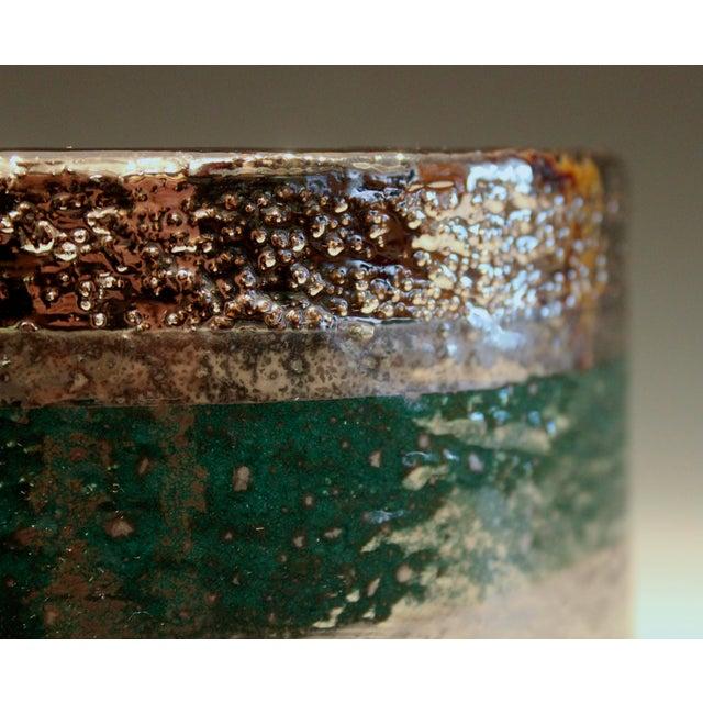 Vintage Bitossi Londi Raymor Metallic Vase For Sale - Image 9 of 11