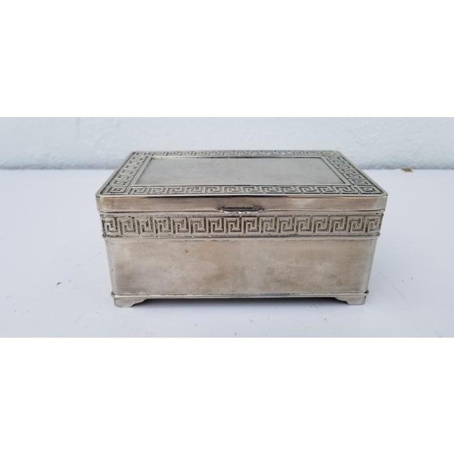 1980s Vintage Italian Vera Lucino Decorative Silver Plate Box For Sale - Image 12 of 12