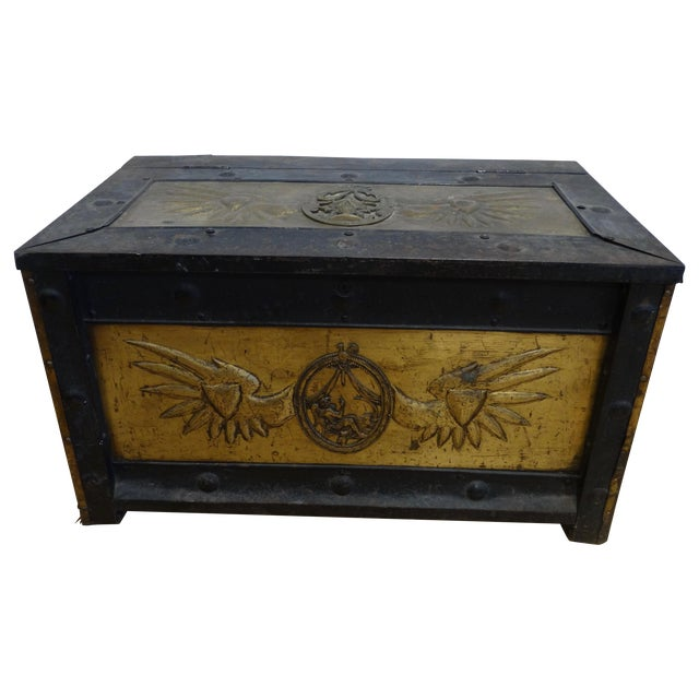 Russian Iron & Brass Trunk - Image 1 of 5