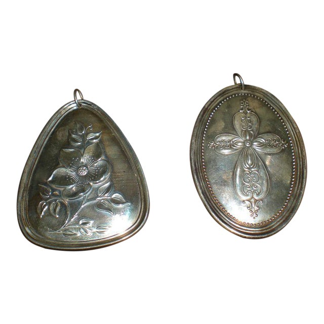 Vintage Towle Sterling Medallions - a Pair For Sale