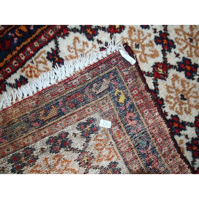 1960s Hand Made Vintage Persian Hamadan Runner - 2′7″ × 6′9″ - Image 3 of 10