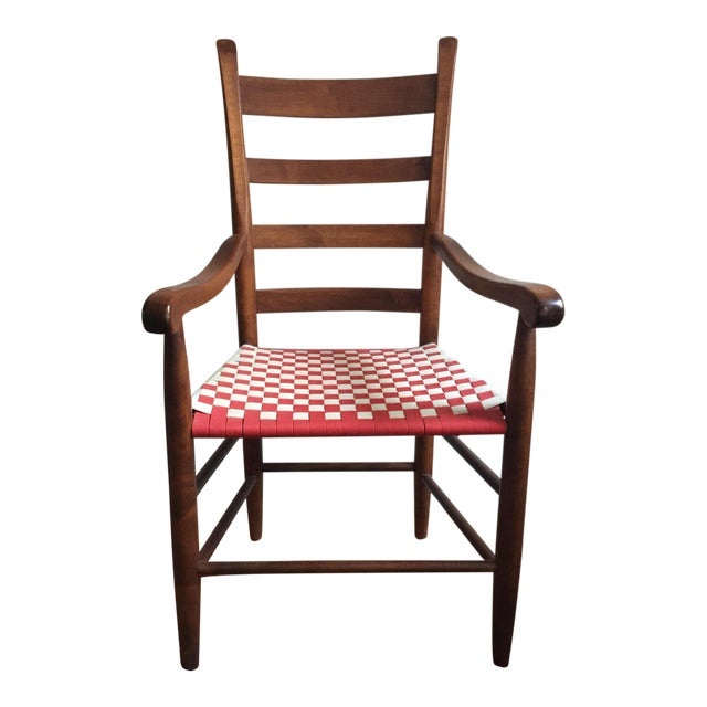 20th Century Shaker Style Ladderback Side Chair For Sale