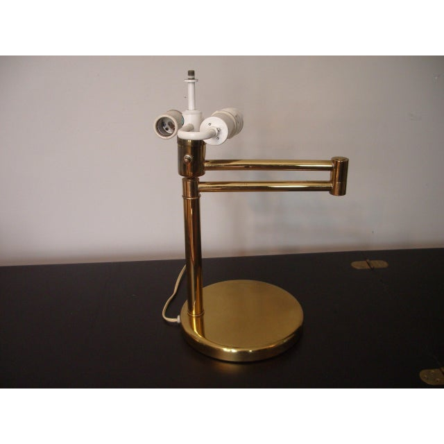 Mid-Century Modern 1960s Mid Century Modern Walter Von Nessen for Nessen Lighting Swing Arm Desk Lamp For Sale - Image 3 of 12