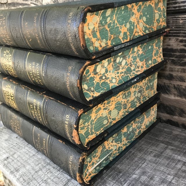Figurative Antique Collection Hill's Practical Reference Library Books - Complete 4 Volumes For Sale - Image 3 of 12